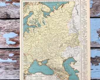 Eastern europe map   Etsy