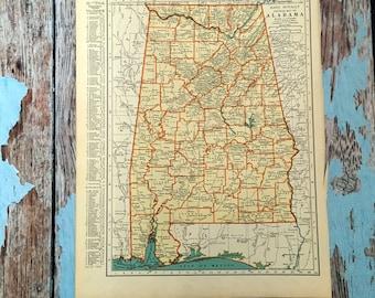 Alabama map | Etsy