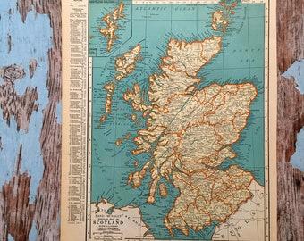 Scotland map | Etsy