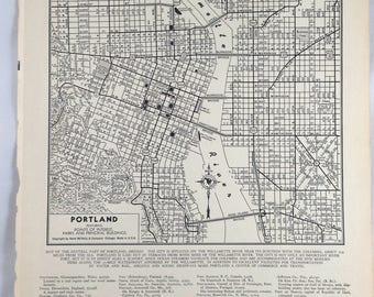 Portland Map Etsy - Framing a map print