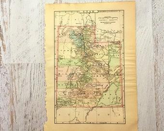1900 Map Ogden, Utah: Great Salt Lake, Hooper, Plain City, Hot ...