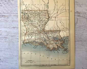 Map Of Louisiana Bayou.Louisiana Bayou Map Etsy