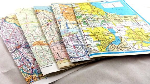 Vintage Map Wrapping Paper. 10 Blätter 15x10.5 \