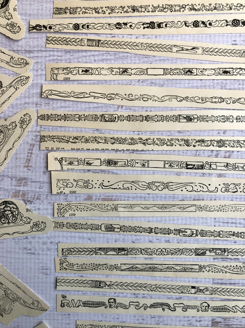 Scrapbooking Deco Designs Junk Journal #5 Antique Victorian Ephemera Set 150 Pieces from 100+ yr Old Book Pages /& Sheet Music Nouveau