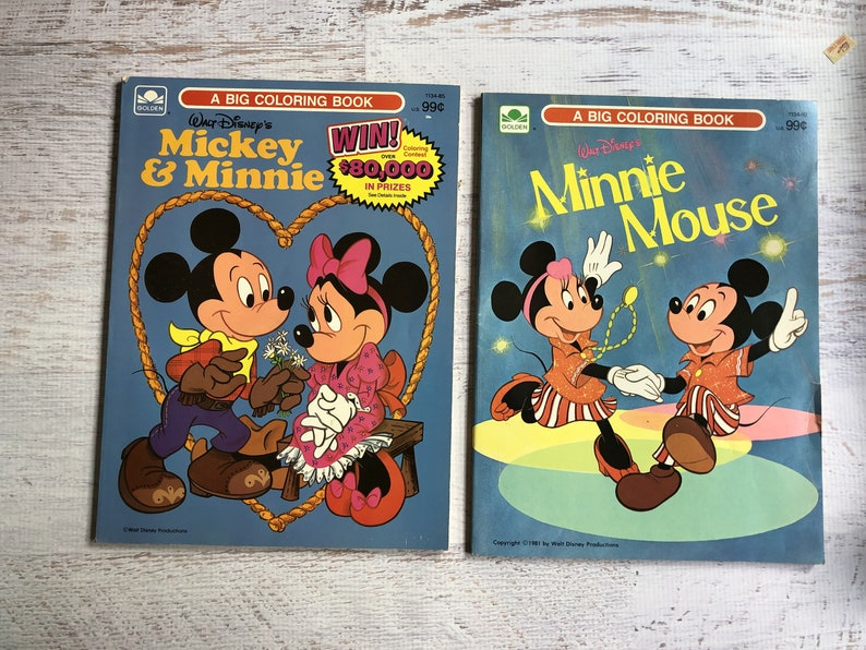 Images of Vintage Disney Coloring Books - Sabadaphnecottage