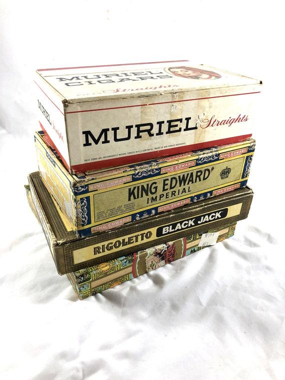 Vintage Cigar Boxes Romeo Y Julieta Muriel Cigars King Etsy