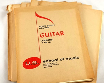 US School of Music Home Study Course for Guitar. Complete Course. 1965. 8 Books. 96 Lessons.