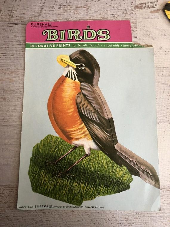 6 oiseaux coupe vintage Die. Eureka oiseaux - impressions décoratives pour pour décoratives Bulletin planches. Affiches d'oiseaux, Cardinal, Robin, le Geai bleu, Loriot, oiseau bleu 9b5708