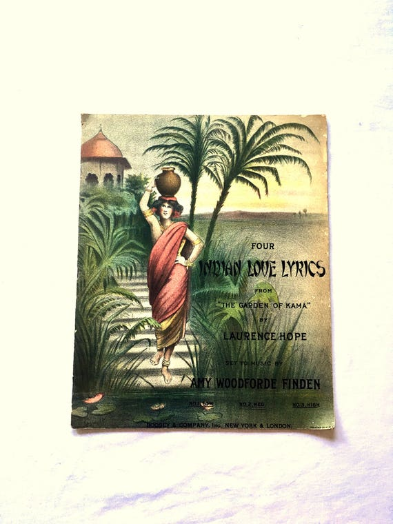 1930 Indian Love Lyrics. Vintage Sheet Music Book. From The | Etsy