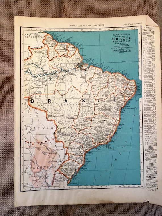 1937 map brazil vintage maps brazil the guianas bolivia gumiabroncs