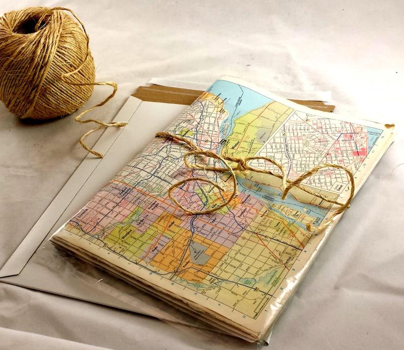 Vintage World Map Gift Wrap. World Wide Map Wrapping Paper. 10 Blätter  authentische VTG-Matumblätter. Fancy Geschenkpapier. Reise-Them-Papier.