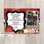 Farm Birthday Invitation, Farm Animals Birthday Party Invite, Farm Party, Farm Bday Invite, Photo Birthday Invitation, Photo Invitation