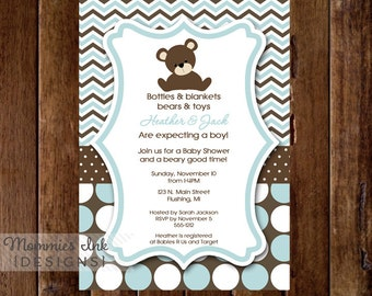Teddy bear invite etsy more colors teddy bear baby shower invitation filmwisefo