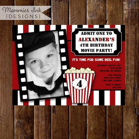 Items Similar To Movie Night Birthday Party Invitation