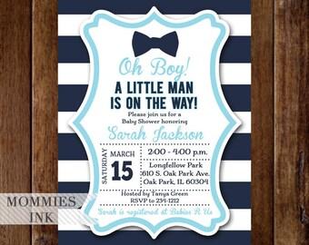 Bow Tie Baby Shower Invitation ...