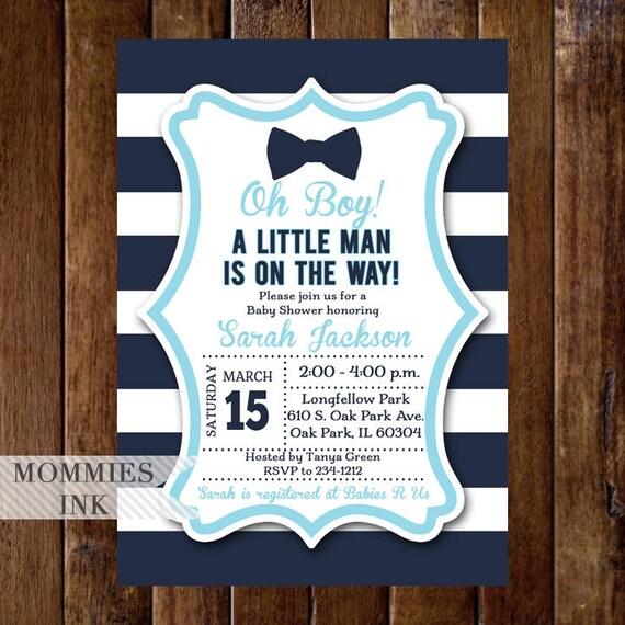 Bow tie baby shower invitation little man baby shower etsy image 0 filmwisefo