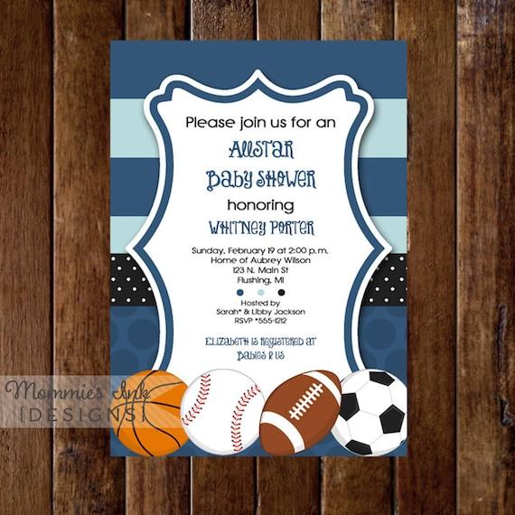 Mod allstar sports theme baby shower invitation all star etsy image 0 filmwisefo