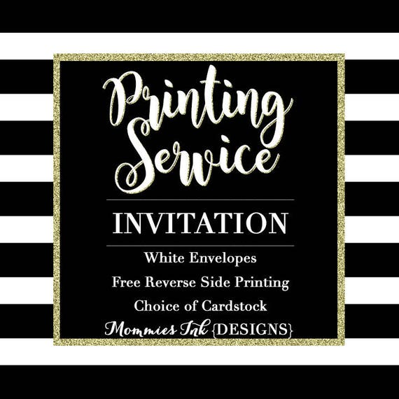 professional printing service for invitations print services etsy