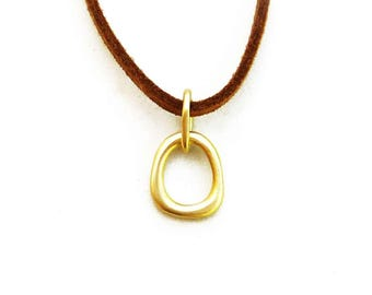 18k gold pendant etsy 18k gold pendant real gold pendent from the zen nature collection handmade fine jewelry aloadofball Images
