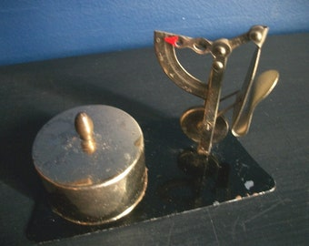 Vintage Postage Station With Stamp Dispenser And Scale