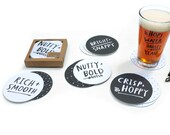 SALE! Beer Notes Coasters - set of 12