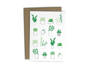 Succulents Single A6 Card