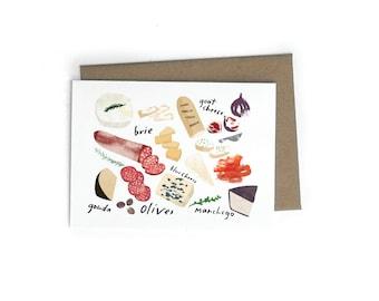 Artisan Cheese Single Greeting Card