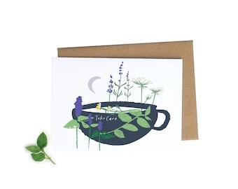 Take Care A6 Greeting Card