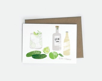 Gin and Tonic A6 Card