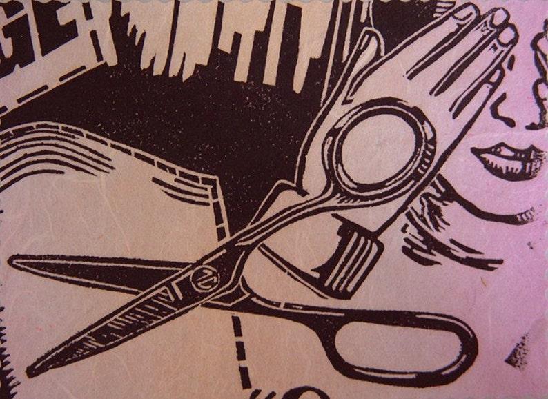 Noir Handmade Blank Card Goth Horror Movie Original ...