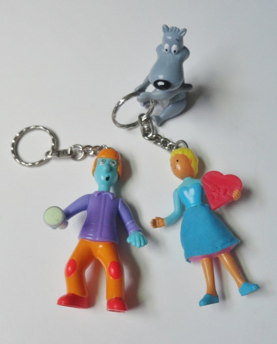 16 BLUES CLUES BACKPACK CHARM ZIPPER ZIP PULL KEYCHAINS KEY RING  PARTY FAVORS