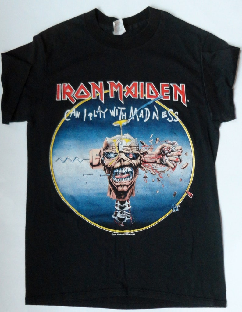 2875616d8 Vintage 1988 IRON MAIDEN T-Shirt UNALTERED Can I Play With | Etsy