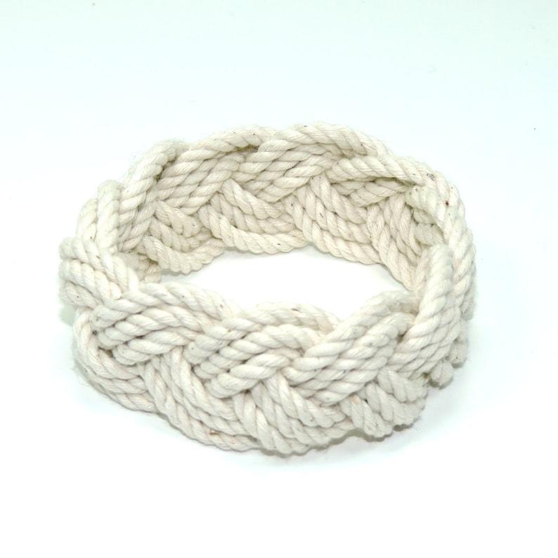53f7859b5d1fe Classic White Rope Bracelet Shrink to Fit