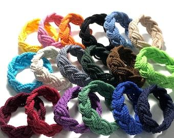 18 Colors Sailor Knot Bracelet Cotton Rope Bracelet, You Choose the Sailor Knot Color