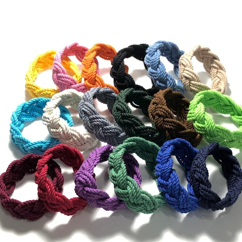 18 Colors Sailor Knot Bracelet Cotton Rope Bracelet You image 1