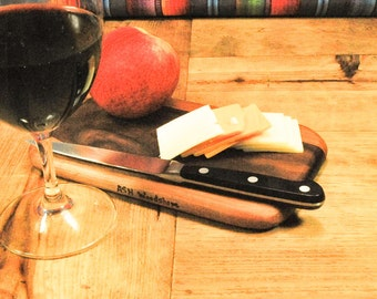 Petite Cutting Board, Cocktail Hour Serving Board, Wine and Cheese Board, Valentines Day Gift, Perfect Gift, Small Kitchen, ASHWoodshops