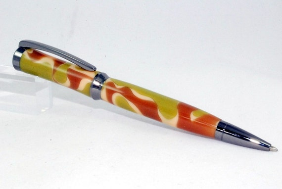 Ballpoint Pen, Twist Pen, Handmade Pen, Custom Acrylic Desert Camo, Gun Metal, TRAILBLAZER By ASHWoodshops, Mom Dad or Grad Gift