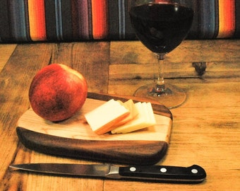 Petite Cutting Board, Housewarming, Wine and Cheese Board, Adventure Board, Perfect Gift, Small Kitchen, ASHWoodshops Valentines Day Gift