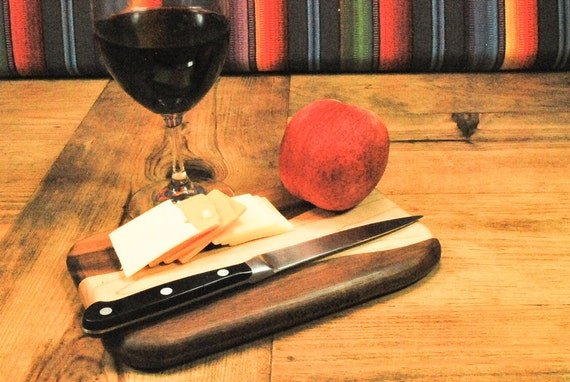 Petite Cutting Board, Cocktail Hour Serving Board, Unique Gift, Adventure Board, Perfect Gift, Small Kitchen, ASHWoodshops