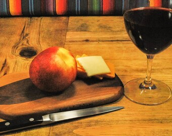 Picnic Board Cocktail Hour Serving Board, Wine and Cheese Board, Adventure Board, Perfect Gift, Small Kitchen, ASHWoodshops