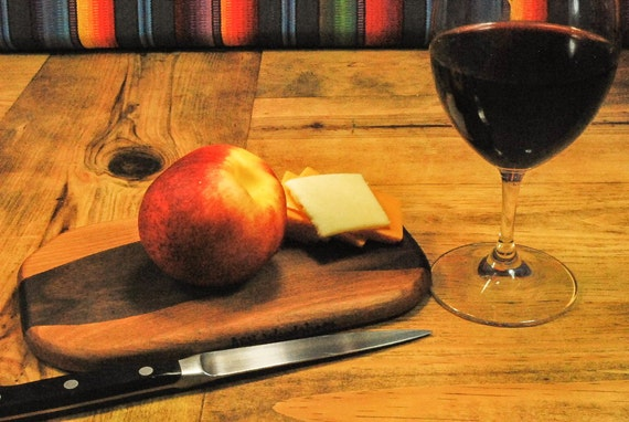 Spring Picnic Board Cocktail Hour Serving Board, Wine and Cheese Board, Adventure Board, Perfect Gift, Small Kitchen, ASHWoodshops