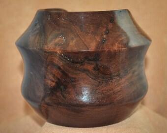 Handmade Wooden Bowl, Claro Walnut Burl, Unique Gift