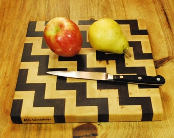 For the Home Chef, Handcrafted Kitchen Board,  End Grain Butcher Block Board, Cheese Board, By ASH Woodshops Valentines Day Gift