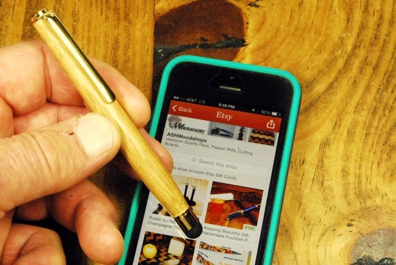 Great Gift smart phone stylus pen, touch pad pad stylus, wood stylus Handmade touchscreen stylus, Smartphone Accessories