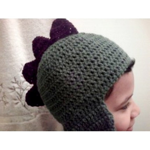 Handmade Dino Hat Hand Crochetknit Dino Beanie With Etsy