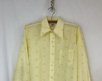RARE \u2023 Oh Shit \u2023 Retro Men/'s 1970s GolfPolo Shirt \u2023 Elaine Benedict \u2023 Size Large