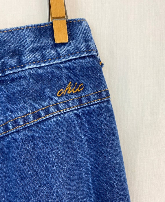 Vintage Chic Jeans H.I.S Medium Blue Wash 70\u2019s-80\u2019s  