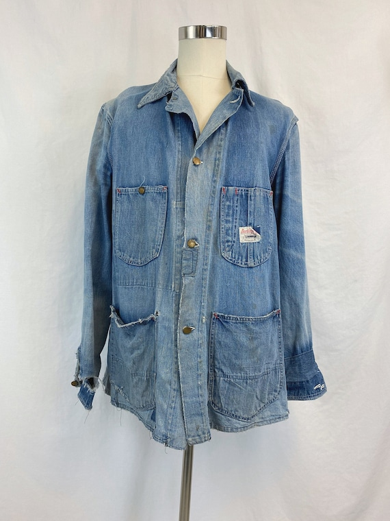 Vintage Burlington Overall Denim Chore Coat | Rare