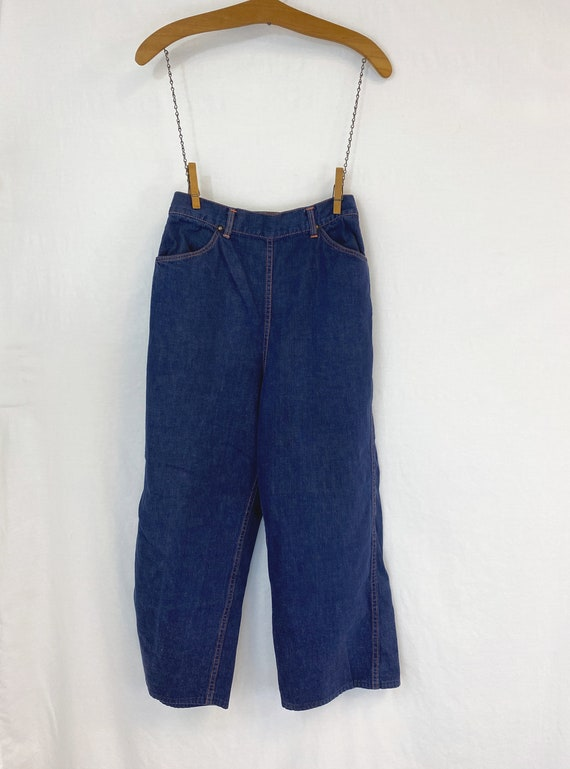50s Ranch Craft Side Zip Jeans | Vintage High Wais