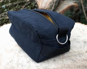 Shaving Kit BLACK HEMP ecofriendly waterproof lining -